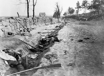 Sunken Road after the battle.Photo credit: National Park Service, http://www.nps.gov/frsp/fredhist.htm
