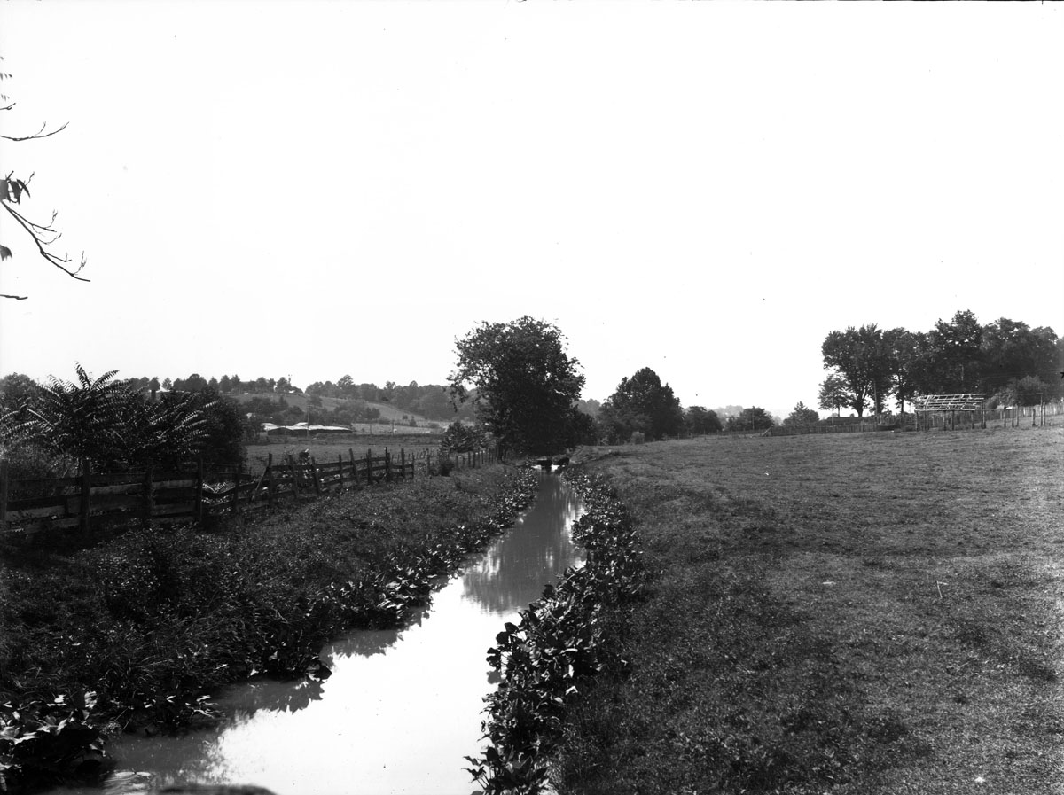 The canal ditch between Hanover and William Streets, taken after the war.Photo credit: http://npsfrsp.wordpress.com/2010/05/06/a-journey-across-the-bloody-plain-part-i/
